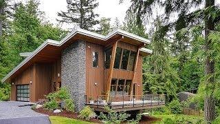 Diseño de casa moderna de dos pisos | madera y piedra