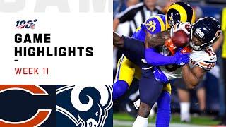 Bears vs. Rams Week 11 Highlights   NFL 2019