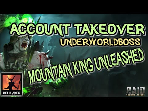RAID: Shadow Legends | ACCOUNT TAKEOVER UNDERWORLD | CLANBOSS, SPIDER & MOUNTAIN KING IN THE ARENA!