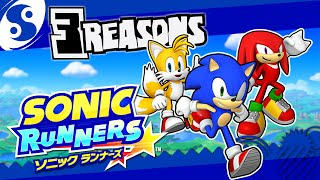 3 REASONS Why SONIC RUNNERS Is Bad!