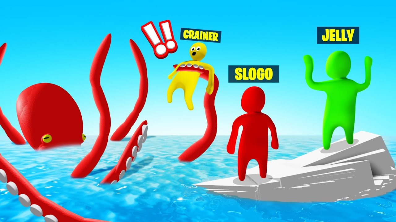 Jelly - DEFEAT The *NEW* KRAKEN In GANG BEASTS!