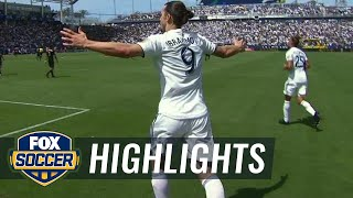 Watch 2 incredible debut goals by Zlatan Ibrahimovic | 2018 MLS Highlights width=