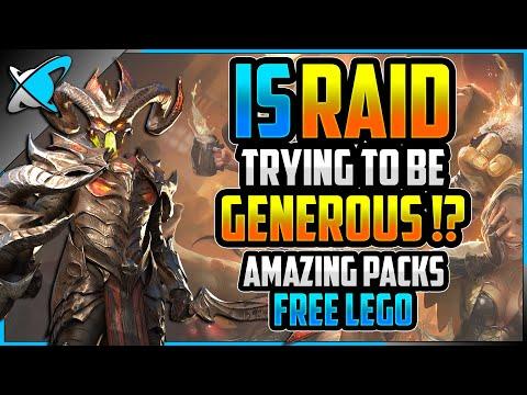 "Is RAID ""Trying"" to be GENEROUS !? | Amazing Packs !? | Bazaar ""Free"" Lego ! | RAID: Shadow Legends"
