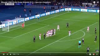 33 Résumé   PSG   Etoile Rouge Belgrade 6 1   Ligue des champions   YouTube   Google Chrome 17 12 20