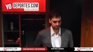 Pau Gasol segundo triple doble con Chicago Bulls vs  Milwaukee Bucks