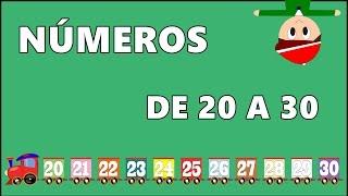 Los Números de 20 a 30 - Vídeos para niños