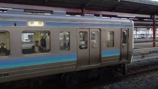 篠ノ井線211系 塩尻駅発着 JR-East Shinonoi Line 211 series EMU