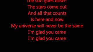 Glee - Glad you came - lyrics