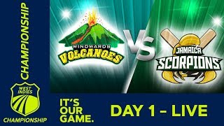*LIVE West Indies Championship* - Day 1   Windwards v Jamaica   Thursday 17th January 2019