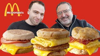 ENTIRE McDonald's BREAKFAST MENU - American Fast Food Review | Orlando, Florida