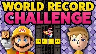 Super Mario Maker - WORLD RECORD Challenge! feat. FLO