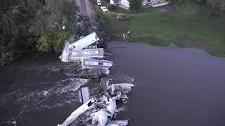 Drone Video of Train derailment near Alton, IA