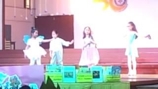 Evana's Lavander blue stage singing
