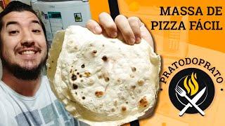 Como fazer massa de pizza fácil (3 ingredientes)