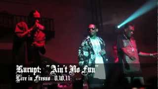 "RIP UNCLEJUNEBUG: Kurupt of The Dogg Pound ""Ain't No Fun"" with Snoop Dogg & Warren G Live in Fresno"