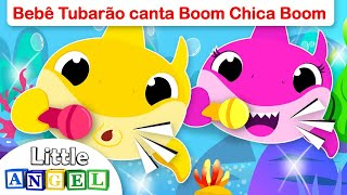 Baby Shark canta Boom Chica Boom! (Baby Shark) | Vídeo Infantil | Little Angel