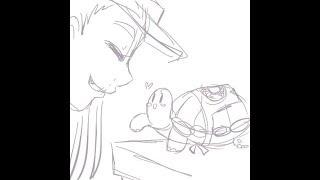 Ro Draws: starbucks vampire wip (static-p ft amree)