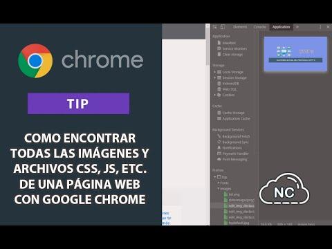 Tip: Como encontrar todas las imágenes y archivos CSS, JS, etc. de una Página Web con Google Chrome