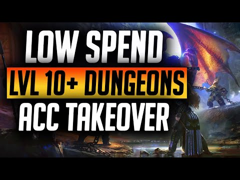 TAKING DUNGEONS FROM LVL 10+ LOW SPENDER TAKEOVER | Raid: Shadow Legends