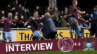 Rob Dray Post Match Interview: Taunton Town 4-3 Salisbury