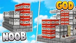 TNT WARS GOD vs TNT WARS NOOB   Minecraft TNT WARS