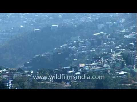 Distant view of Aizawl town