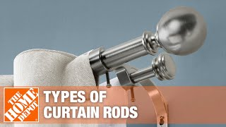 A video outlining types of curtain rods.