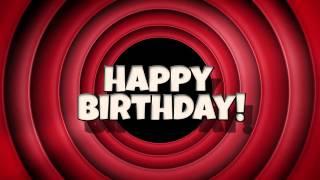 Looney Tunes Style Happy Birthday Ecard Video