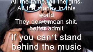 Anjulie- Stand Behind the Music (LYRICS on Screen!)