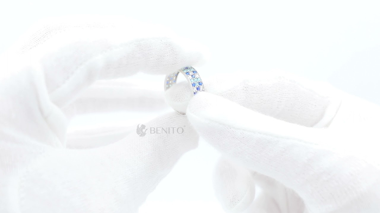 Paolina Ring Blue Spinel and Zircon Stones