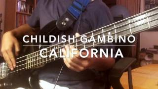 California –Childish Gambino [BASS COVER]