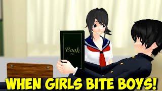 """MMD """"When Girls Bite Boys"""" – multi cartoon anime game GF, YS, APH, FNAF, JJBA funny animation meme"""