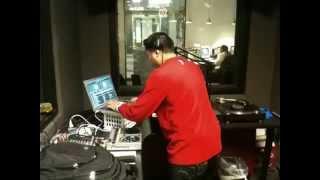 DJ EBONIX mixing live on the air