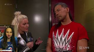 WWE Smackdown 4/10/18 Shinsuke no Speak English backstage