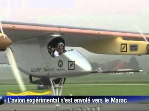 L'avion Solar Impulse s'envole vers le Maroc via Madrid