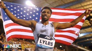 Noah Lyles completes historic Diamond League double with 200m victory | NBC Sports