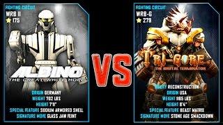 REAL STEEL WRB ALBINO (175) VS Tri Gore (Champion)(279) New Robots UPDATE (Живая сталь)