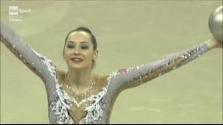 Katsiaryna Halkina Ball World Cup Pesaro 2017
