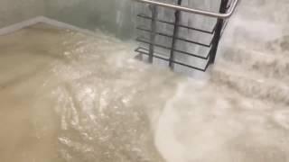 Beázott a győri Dunakapu téri mélygarázs