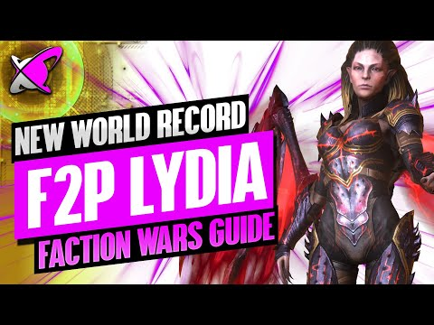 NEW RECORD FREE TO PLAY LYDIA | Faction Wars Guide | Teams & Champion Builds | RAID: Shadow Legends