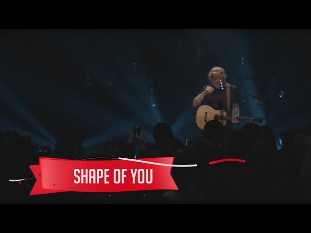 "Video de ""Shape of you"" de Ed Sheeran en directo"
