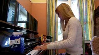 Lara plays music from Billy Madison on piano