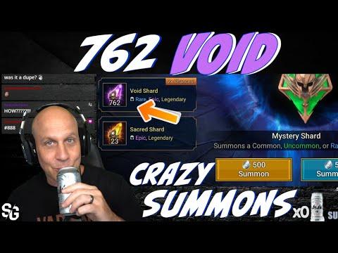 762 VOID **Unbelievable** 2x void summons Raid Shadow Legends