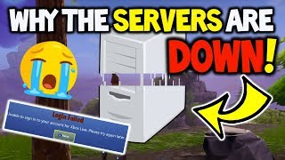 FORTNITE SERVERS ARE DOWN! WHY???!!! - Fortnite Battle Royale, Sever Details on why they are Down!