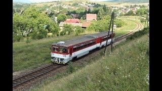 ESK086125 Local trains Slovakia Ráztočno motor coach Triebwagen Slowakei vlaky Slovensko ZSSK Bageta