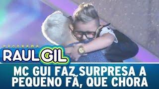 Programa Raul Gil (18/06/16) - Fã mirim é surpreendido por MC Gui e chora no palco