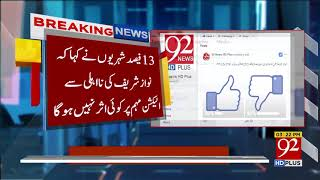 Nawaz disqualification:Shocking results in online survey conducted by 92News - 13 April 2018