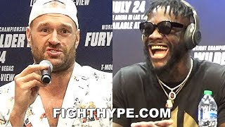 HIGHLIGHTS   TYSON FURY VS. DEONTAY WILDER 3 KICK-OFF PRESS CONFERENCE & LONGEST FACE OFF EVER