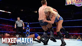 Charlotte Flair executes a Spear and Figure-Eight on Miz during WWE MMC Finals