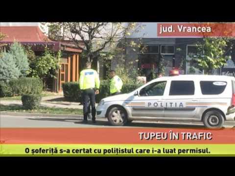 Scandal în stradă cu poliția